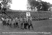 The Kerry team of 1892, the first All-Ireland winning team parade at Fitzgerald Stadium, Killarney before the   1946 All-Ireland Football final.<br /> Photo by Daniel MacMonagle<br /> <br /> from the MacMonagle, Killarney photo archive<br /> www.macmonagle.com