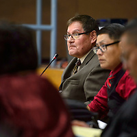 Incumbent Lorenzo Bates is voted to serve another two-year term at Speaker of the Navajo Nation Council Monday during the winter session of the Council in Window Rock.