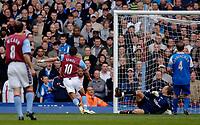 Photo: Glyn Thomas.<br />Aston Villa v Birmingham City. The Barclays Premiership. 16/04/2006.<br /> Milan Baros (second from L) gives Aston Villa the lead.