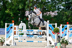 08, Youngster-Springprfg. Kl. M* 6-8j. Pferde,, Ehlersdorf, Reitanlage Jörg Naeve, 15. - 18.07.2021, Michael Grimm (GER), Mitsch 37,