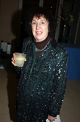 Poet & novelist ELAINE FEINSTEIN at a the Orion Publishing Group Author Party and a private view of the 'Turner Whistler Monet' exhibition at Tate Britain, Atterbury Street, London SW1 on 23rd February 2005.<br /><br />NON EXCLUSIVE - WORLD RIGHTS