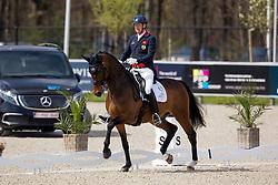 Hughes Gareth, GBR, Sintano van Hof Olympia<br /> CDI3* Opglabbeek<br /> © Hippo Foto - Sharon Vandeput<br /> 24/04/21