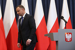 February 6, 2018 - Warsaw, Poland - Polish president ANDRZEJ DUDA to sign Holocaust bill, but will ask top court for opinion. The controversial bill will outlaw blaming Poland as a nation for crimes committed by Nazi Germany during the Holocaust. (Credit Image: © Michal Dyjuk/FORUM via ZUMA Press)