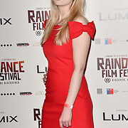 Veronica Osimani is a British/Italian actress attends the Raindance Opening Gala 2018 held at Vue West End, Leicester Square on September 26, 2018 in London, England.