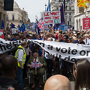 Stop Brexit Thousands assembly at St James march to Parliament Square to demand a vote on the final Brexit deal on June 23 2018, London, UK.