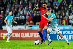 Kyle Walker of England and Roman Bezjak of Slovenia during football match between National teams of Slovenia and England in Round #3 of FIFA World Cup Russia 2018 qualifications in Group F, on October 11, 2016 in SRC Stozice, Ljubljana, Slovenia. Photo by Grega Valancic / Sportida