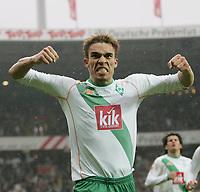 Fotball , 26. februar 2005, 1:0 Jubel Valerien Ismael Werder Bremen<br /> Bundesliga SV Werder Bremen - VfL Bochum 4:0
