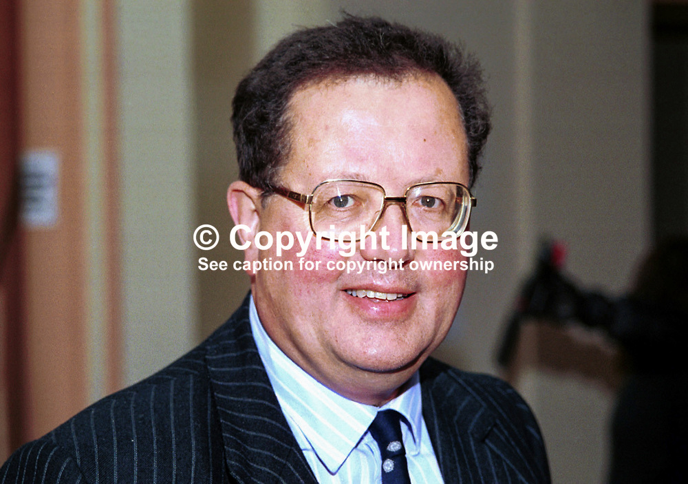Tim Boswell, MP, Conservative Party, Britain, UK. Taken at Conservative Party Conference, Blackpool. Ref: 199910254.<br /> <br /> Copyright Image from Victor Patterson, 54 Dorchester Park, Belfast, UK, BT9 6RJ<br /> <br /> t1: +44 28 9066 1296 (from Rep of Ireland 048 9066 1296)<br /> t2: +44 28 9002 2446 (from Rep of Ireland 048 9002 2446)<br /> m: +44 7802 353836<br /> <br /> victorpattersonbelfast@gmail.com<br /> victorpatterson@me.com<br /> <br /> www.victorpatterson.com<br /> <br /> Please see my Terms and Conditions of Use at https://www.victorpatterson.com/page2<br /> It is IMPORTANT that you familiarise yourself with them.<br /> <br /> Images used on the Internet incur an additional cost and must be visibly watermarked i.e. © Victor Patterson within the body of the image and copyright metadata must not be deleted. Images used on the Internet have a size restriction of 4kbs and are chargeable at rates available at victorpatterson.com.<br /> <br /> This image is available only for the use of the download recipient i.e. television station, newspaper, magazine, book publisher, etc, and must not be passed on to any third party. It is also downloaded on condition that each and every usage is notified within 7 days to victorpatterson@me.com<br /> <br /> The right of Victor Patterson (or the named photographer) to be identified as the author is asserted in accordance with The Copyright Designs And Patents Act (1988). All moral rights are asserted.