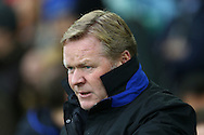 Everton Manager Ronald Koeman looks on from the dugout. Premier league match, Everton v Manchester City at Goodison Park in Liverpool, Merseyside on Sunday 15th January 2017.<br /> pic by Chris Stading, Andrew Orchard sports photography.