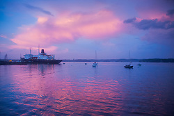 T/S State of Maine Under Sunset Clouds, Castine, Maine, US