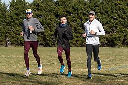 Reebok Boston Track Club<br /> home base training<br /> Domanic, Flanagan, Rogers