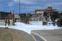 Overturned Fuel Truck