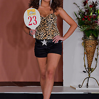 Jenifer Illyes participates the Miss Hungary beauty contest held in Budapest, Hungary on December 29, 2011. ATTILA VOLGYI