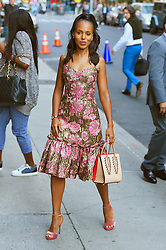 """Kerry Washington stops by the """"The Late Show with Stephen Colbert"""". 04 Oct 2017 Pictured: Kerry Washington. Photo credit: STB / MEGA TheMegaAgency.com +1 888 505 6342"""