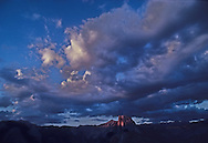 Half Dome at sunset in Yosemite National Park, May 1990.  .© Jay Mather