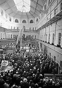 10/04/1966<br /> 04/10/1966<br /> 10 April 1966<br /> 1916 Jubilee Commemorations-  Opening of Kilmainham Jail Historical Museum, Dublin. Picture shows a view of the crowd in the jail as President Eamon de Valera officially opened the museum. The cells of the jail can be seen in the background.