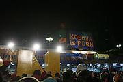 Kosovo, Pristina (evening)<br /> Sunday, February 17, 2008