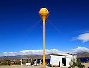 Receiver tower rear view, solar energy scientific research centre, Tabernas, Almeria, Spain - AORA Tulip System
