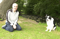 Eddie Sander with his Dogs Jackson and Inka<br /><br />18 June 2004<br /><br />Copyright Paul David Drabble<br /> [#Beginning of Shooting Data Section]<br />Nikon D1 <br /> Focal Length: 26mm<br /> Optimize Image: <br /> Color Mode: <br /> Noise Reduction: <br /> 2004/06/18 10:19:42.0<br /> Exposure Mode: Programmed Auto<br /> White Balance: Auto<br /> Tone Comp: Normal<br /> JPEG (8-bit) Fine<br /> Metering Mode: Multi-Pattern<br /> AF Mode: AF-S<br /> Hue Adjustment: <br /> Image Size:  2000 x 1312<br /> 1/100 sec - F/5.6<br /> Flash Sync Mode: Front Curtain<br /> Saturation: <br /> Color<br /> Exposure Comp.: 0 EV<br /> Auto Flash Mode: External<br /> Sharpening: Normal<br /> Lens: 17-35mm F/2.8-4<br /> Sensitivity: ISO 400<br /> Image Comment: <br /> [#End of Shooting Data Section]