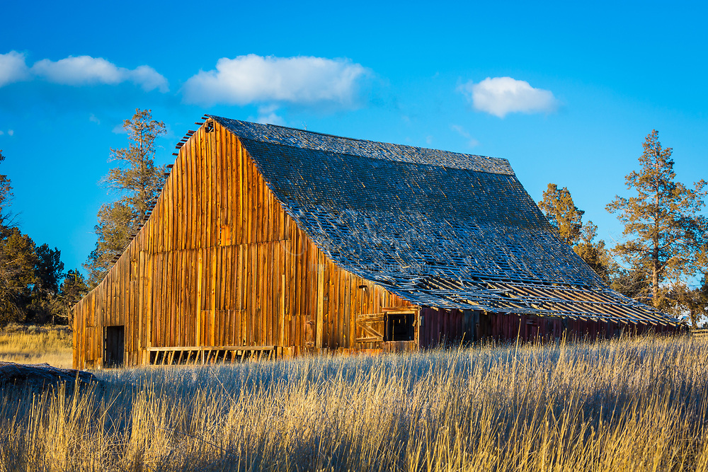 Dilapidated barn building in the Bend area of central Oregon
