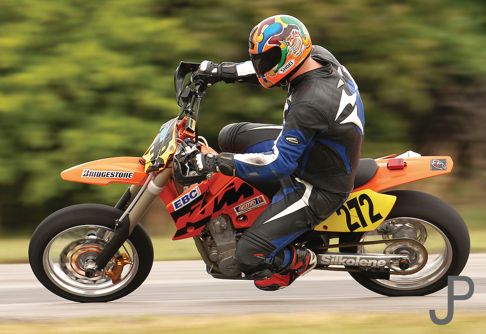 Unknown supermoto racer on KTM 450SM at Hallett Raceway