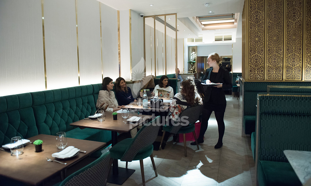 A general view of Indian Accent restaurant, Mayfair.<br /> Picture by Daniel Hambury/Stella Pictures Ltd 07813022858<br /> 05/01/2018
