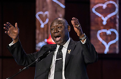 Attorney Benjamin Crump speaks during a memorial service for George Floyd at North Central University in Minneapolis on Wenesday, June 4, 2020. Photo by Carlos Gonzalez/Minneapolis Star Tribune/TNS/ABACAPRESS.COM