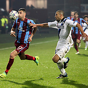 Trabzonspor's Burak YILMAZ (L) during their UEFA Champions League group stage matchday 5 soccer match Trabzonspor between Inter at the Avni Aker Stadium at Trabzon Turkey on Tuesday, 22 November 2011. Photo by TURKPIX