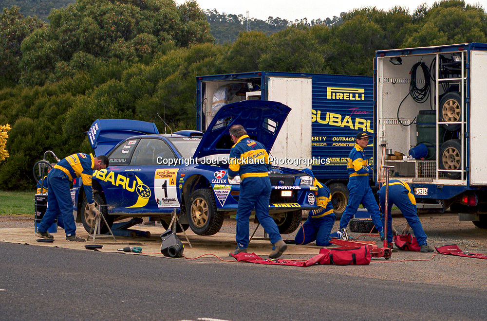 Subaru Service - Possum Bourne, Craig Vincent - Subaru Impreza WRC 98 - Saxon Safari Tasmania - ARC- 11th-12th September 1999