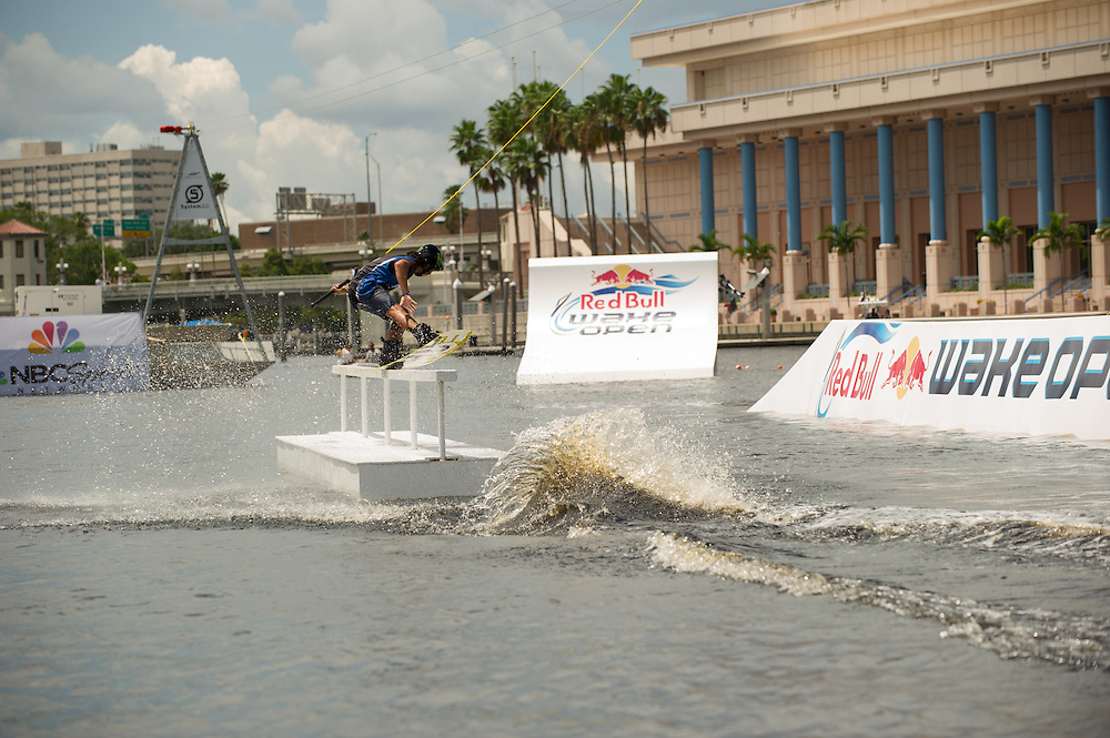 Daniel Grant Competes at Red Bull Wake Open Park in Tampa Bay, Florida on July 14, 2012