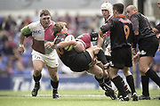 Reading, England, Keith WOOD lifting and driving the Nabonne Fly Haly, backwards, during the, European Shield Final, at the Madejski Stadium, NEC Harlequins v RC Narbonne.<br /> [Mandatory Credit, Peter Spurrier/ Intersport Images].