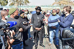 South Africa - Pretoria - 17 July 2020 - Minister of police Bheki Cele visit the home of slain former ANC deputy chairperson Mapiti Matsena in Doornpoort, Pretoria.<br /> <br /> Picture: Thobile Mathonsi/African News Agency(ANA)