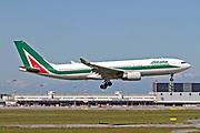 EI-EJM Alitalia, Airbus A330-202. Photographed at Malpensa airport, Milan, Italy