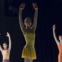 Fifth year students of the Hungarian Dance Academy perform in Forest choreographed by Katalin Lorinc, music by Michael Nyman during a gala performance held at the National Dance Theatre in Budapest, Hungary on February 27, 2013. ATTILA VOLGYI