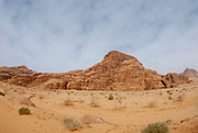 Desert Landscape. Photographed in Wadi Rum, Jordan in April