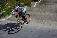 #100 (PAJON Mariana) COL during round 4 of the 2017 UCI BMX  Supercross World Cup in Zolder, Belgium.