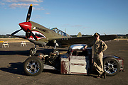 Ratrod, owner and Curtiss P-40 Warhawk at Warbirds Over the West.