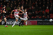 Herbie Kane of Doncaster Rovers (15) shoots during the EFL Sky Bet League 1 match between Doncaster Rovers and Sunderland at the Keepmoat Stadium, Doncaster, England on 23 October 2018.