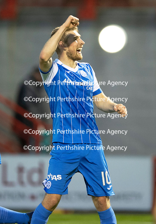 Hamilton Accies v St Johnstone…08.05.18…  New Douglas Park    SPFL<br />David Wotherspoon celebrates his goal<br />Picture by Graeme Hart. <br />Copyright Perthshire Picture Agency<br />Tel: 01738 623350  Mobile: 07990 594431