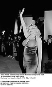 Anna Nicole Smith waving outside Mortons during Steve Tisch &  Vanity Fair's Oscar Night Party,<br />Mortons,  Los Angeles. March 1994.  Film 94563/33<br /> <br />© Copyright Photograph by Dafydd Jones<br />66 Stockwell Park Rd. London SW9 0DA<br />Tel 0171 733 0108.