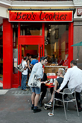 22 April 2011. London, England..Ben's cookies on Carnaby Street in London's West End..Photo; Charlie Varley.