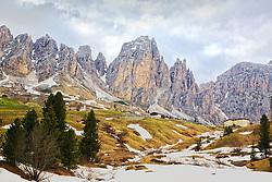 Gardena Pass, Dolomite Mountains, South Tyrol, Italy
