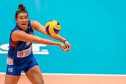 07-06-2018 NED: Volleyball Nations League Netherlands - Serbia, Rotterdam<br /> Netherlands beat Serbia 3-2 / Bojana Milenkovic #19 of Servië