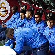 Trabzonspor's players during their Turkish superleague soccer derby match Galatasaray between Trabzonspor at the AliSamiYen spor kompleksi TT Arena in Istanbul Turkey on Saturday, 22 November 2014. Photo by Aykut AKICI/TURKPIX