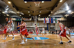 at friendly basketball match before European Championships in Poland between National Teams od Slovenia and Russia,  on August 9, 2009, in Arena Tivoli, Ljubljana, Slovenia. (Photo by Vid Ponikvar / Sportida)