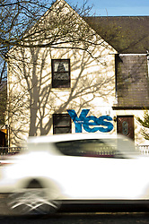 Pictured: It has to be Yes.<br /> <br /> No doubting which way the owners of this house will be voting following the announcement of a second Scottish Independence referendum sometime between Autumn 2019 and Spring 2019.<br /> <br /> <br /> Ger Harley | EEm 14 march 2017