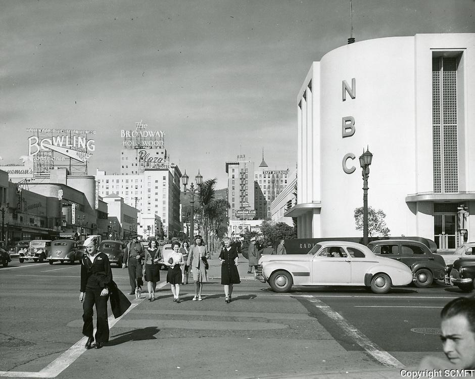 1941 NBC Radio at Sunset Blvd & Vine St