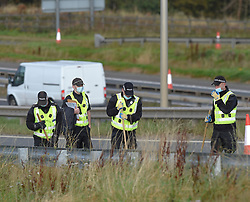 Police closed a section of the M8 motorway around Whitburn at the weekend as they continued the search for missing Whitburn man Billy McDowell.<br /> <br /> © Dave Johnston / EEm