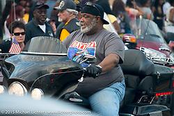 """Biking on the Boulevard"" event during Daytona Beach Bike Week 2015. FL, USA. March 14, 2015.  Photography ©2015 Michael Lichter."