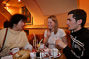 Moscow, Russia, 04/04/2004..Customers at Kult Cafe, a popular restaurant and clubbing venue in the city centre.